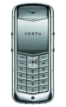 Vertu Constellation Polished Stainless Steel Pink Leathe