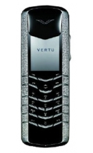 Vertu Signature White Gold Pave Diamonds